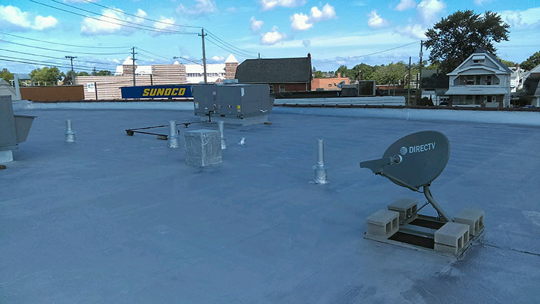 Quality Fibered Aluminum Coating, Cleveland, OH - Atlas industrial commercial roofing Cleveland Ohio 2