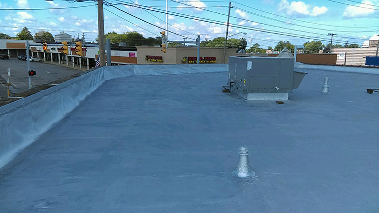 Quality Fibered Aluminum Coating, Cleveland, OH - Atlas industrial commercial roofing Cleveland Ohio 1
